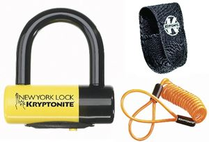 Picture of New York Liberty disc lock - with reminder cable - yellow