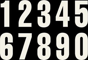Picture of White Numbers