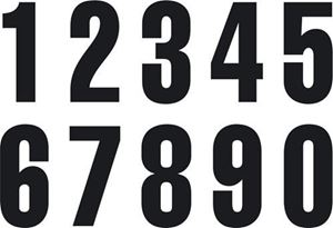 Picture of Black Numbers